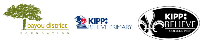 Bayou District Foundation KIPP logos